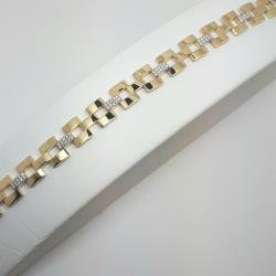 9ct gold stone set bracelet