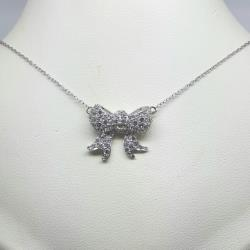 Sterling silver bow pendant