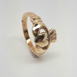 9ct gents yellow gold claddagh ring