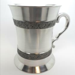 Celtic Pewter Strip Tankard